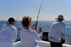 Big game or deep sea fishing in Costa Rica. Central America Royalty Free Stock Images