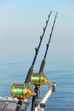 Big game fishing. Reels and rods Stock Photography
