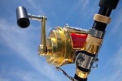 Big game fishing. Reels in natural setting Stock Image
