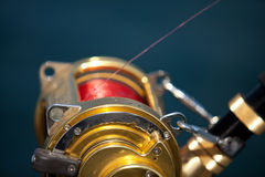 Big game fishing. Reels in natural setting Stock Photography