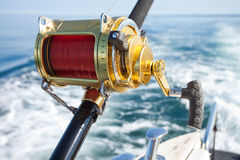 Big game fishing. Reels in natural setting Royalty Free Stock Photography