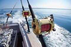 Big game fishing. Reels in natural setting Stock Photo