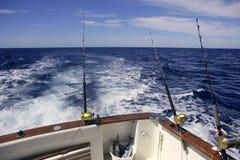 Big game obat fishing in deep sea Stock Images