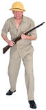 Big Game Safari Hunter Isolated Stock Photo