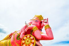 Big Ganesh statue in Saman temple Royalty Free Stock Photo