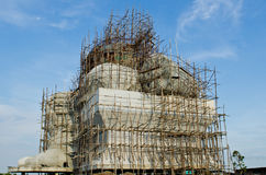 Big ganesha statue under construction Royalty Free Stock Image