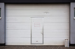 Big Garage Metal Door Royalty Free Stock Photography