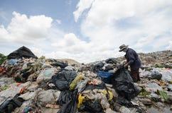 big garbage heap Stock Image