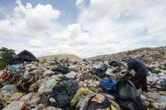Big garbage heap Stock Image