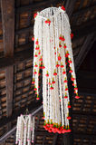 Big garlands Flower Lanna Style at Thailand Royalty Free Stock Image
