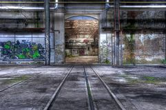 Big gate with rails Royalty Free Stock Photos