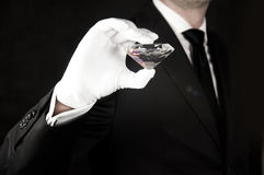 Big gem in hand of a jeweler Stock Image