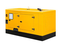 Big generator. On a white background Royalty Free Stock Images