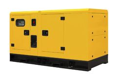 Big generator. Isolated on a white background Royalty Free Stock Photo