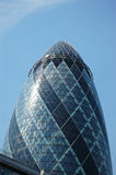 The Big Gherkin. This is a image of the modern building called the Gherkin. It can be used to represent modern architecture Stock Photography