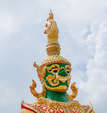 The Big Giant guardian statue in buddhist temple in Thailand Stock Image