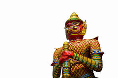 The Big Giant guardian statue on white background in Th. Ai Temple,Thailand royalty free stock photos