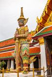 Big giant guardian in Temple of the Emerald Buddha Royalty Free Stock Photos