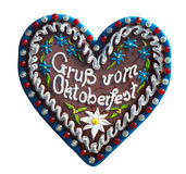 Big gingerbread heart Royalty Free Stock Photography
