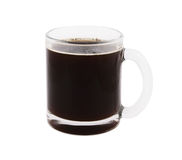 Big glass cup of coffee isolated Stock Photography