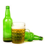 Big glass of light beer Royalty Free Stock Photography
