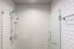 Big glass shower box royalty free stock photography