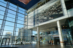 Big glass wall in Panorama center Royalty Free Stock Photo