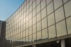 Big glass wall Stock Photo