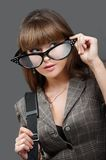 Big glasses Stock Images