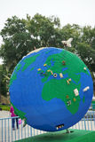 Big globe made by lego (showing Africa) Stock Photography