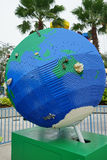 Big globe made by lego Stock Photo