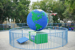 Big globe made by lego Stock Photography