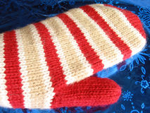 Big glove. Knitting Stock Photos