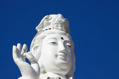 Big of god guanyin statue in China temple. Stock Photography