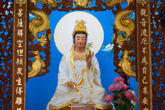 Big of god guanyin statue in China temple. Stock Photos