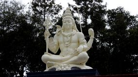 God shiva statue in top of temple Royalty Free Stock Images