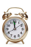 Big gold alarm clock Royalty Free Stock Photo