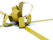 Big gold bow Stock Photo