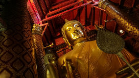 Big gold Buddha in Ayuthaya Stock Photo