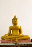 Big Gold buddha statue at Wat Klong reua. Phitsanulok, Thailand. Royalty Free Stock Photography