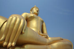 Big gold Buddha in Thailand Stock Image