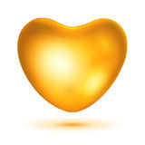 Big gold heart Royalty Free Stock Photo