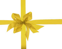 Big Gold Holiday Ribbon Stock Photography