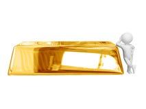 Big gold ingot Royalty Free Stock Images