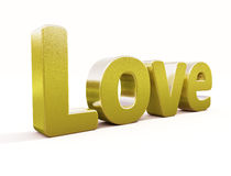 Big gold love Royalty Free Stock Image