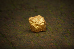 Big gold nugget Royalty Free Stock Photography
