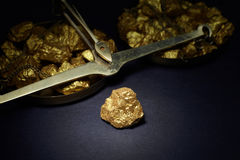 Big gold nugget Stock Images