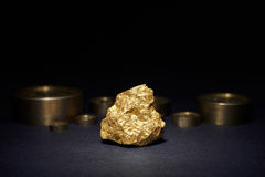 Big gold nugget Royalty Free Stock Images