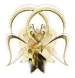 Big golden bow stock photography