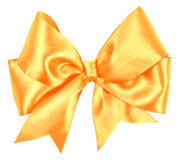 Big golden bow Stock Photos